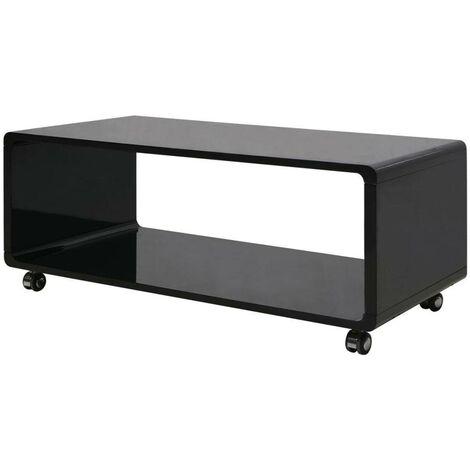 Hommoo High Gloss Coffee Table Black VD09563