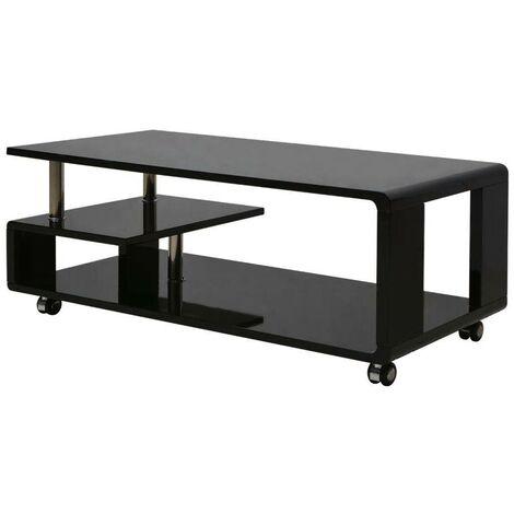 Hommoo High Gloss Coffee Table Black VD09572