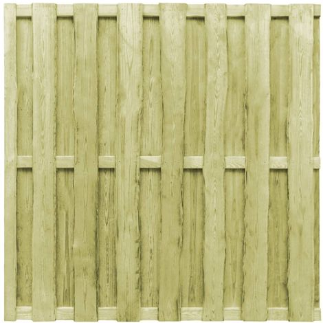 Hommoo Hit and Miss Fence Panel FSC Pinewood 180x180 cm Green VD29112