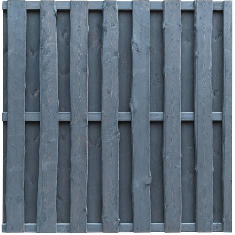 Hommoo Hit and Miss Fence Panel FSC Pinewood 180x180 cm Grey VD29113