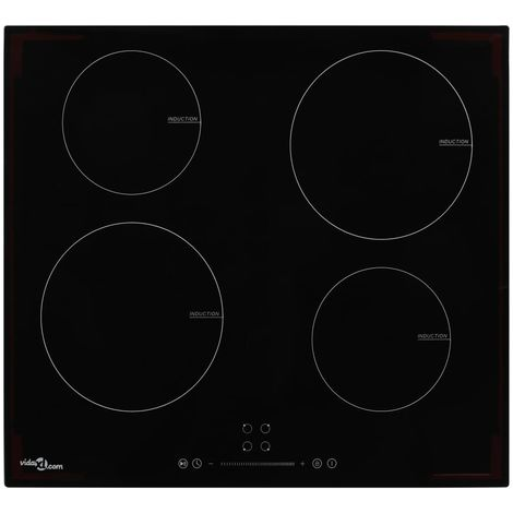 Hommoo Induction Hob with 4 Burners Touch Control Glass 7000 W