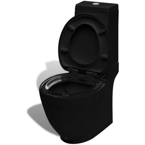 Hommoo Inodoro WC de cerámica negro