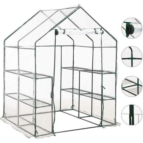 Hommoo Invernadero con 8 estantes 143x143x195 cm
