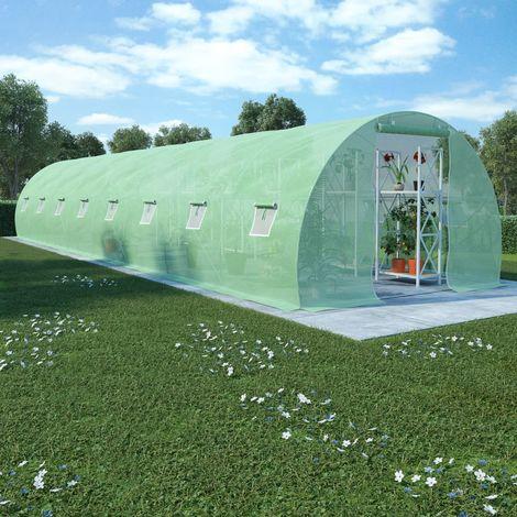 Hommoo Invernadero con cimientos de acero 36m2 1200x300x200 cm
