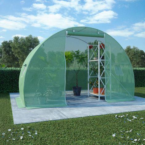 Hommoo Invernadero con cimientos de acero 4,5m2 300x150x200 cm