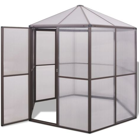 Hommoo Invernadero de aluminio 240x211x232 cm