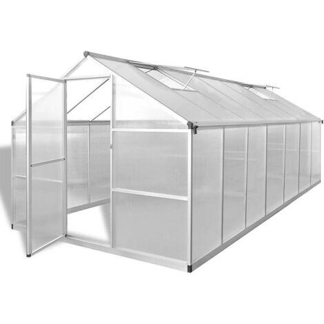 Hommoo Invernadero de aluminio reforzado 10,53 m2
