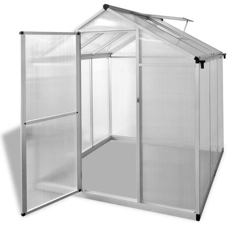 Hommoo Invernadero de aluminio reforzado 3,46 m2