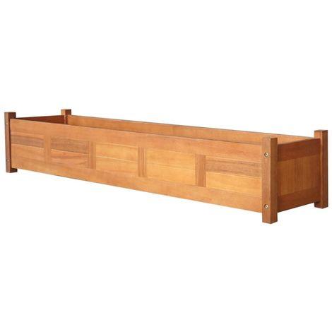 Hommoo Jardinera de jardín de madera de acacia 150x30x25 cm