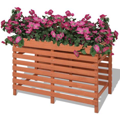 Hommoo Jardinera de madera 100x50x71 cm