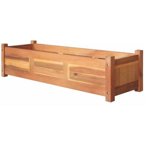 Hommoo Jardinera de madera de acacia 100x30x25 cm