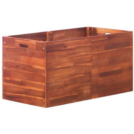 Hommoo Jardinera de madera de acacia 100x50x50 cm
