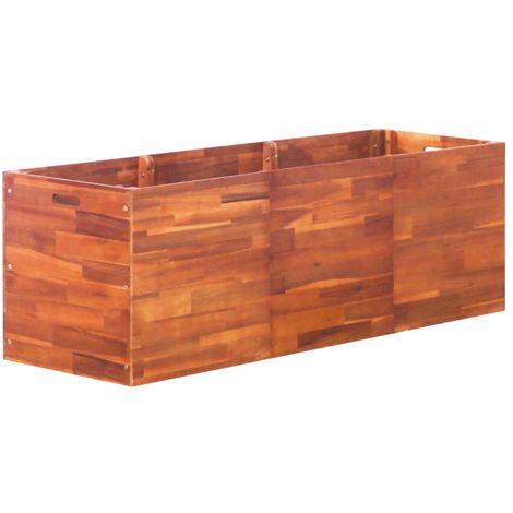 Hommoo Jardinera de madera de acacia 150x50x50 cm