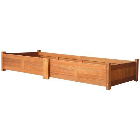 Hommoo Jardinera de madera de acacia 200x50x25 cm
