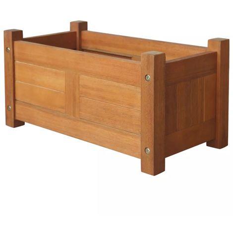 Hommoo Jardinera de madera de acacia 50x25x25 cm