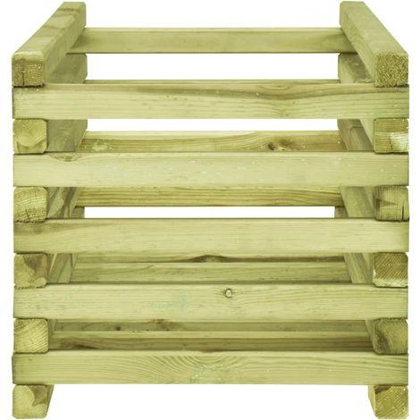 Hommoo Jardinera de madera de pino impregnada 120x40x35 cm