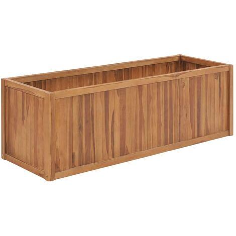Hommoo Jardinera de madera maciza de teca 150x50x50 cm