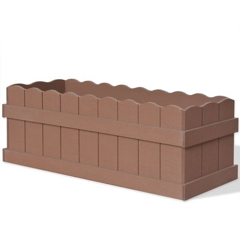Hommoo Jardinera WPC 70x25x25 cm marrón