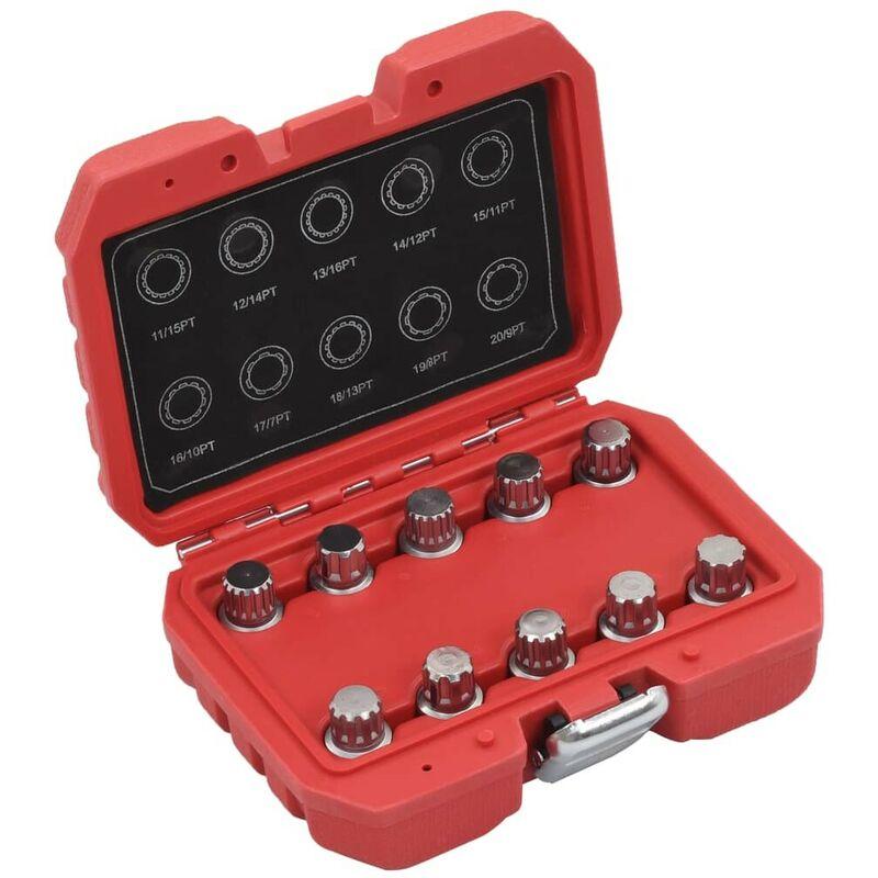 Hommoo Jeu de clés pour écrou de blocage de roue 10 pcs pour BMW HDV07923
