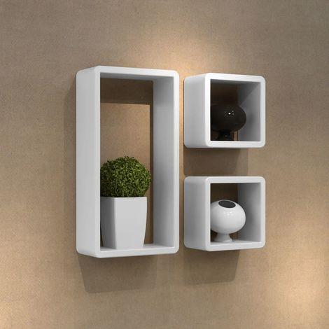Hommoo Juego de estantes en forma de cubo 3 piezas