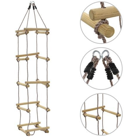 Hommoo Kids Rope Ladder 200 cm Wood