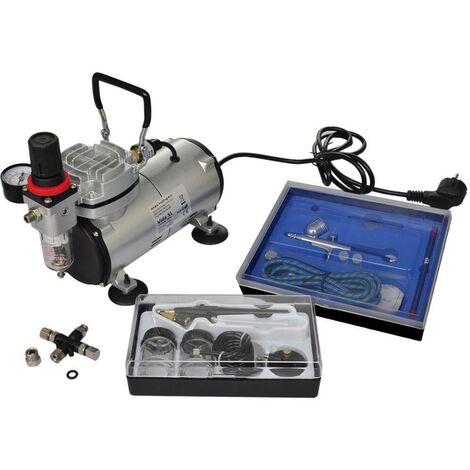 Hommoo Kit de compresseur d'aérographe avec 2 pistolets HDV03494