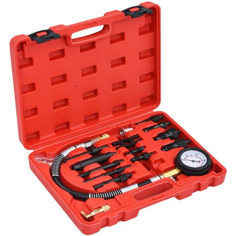Hommoo Kit de comprobación de compresión de motor diésel 14 piezas