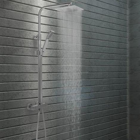 Hommoo Kit de ducha combinado con termostato acero inoxidable
