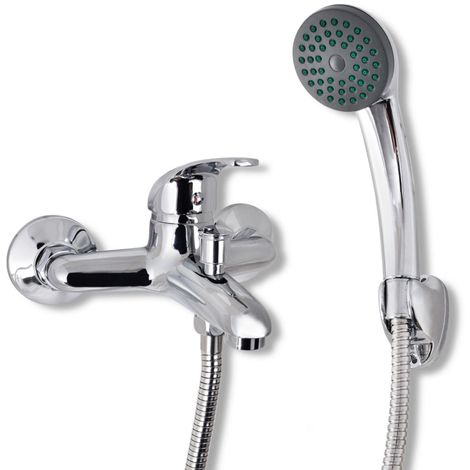 Hommoo Kit de grifo mezclador para ducha de baño cromado