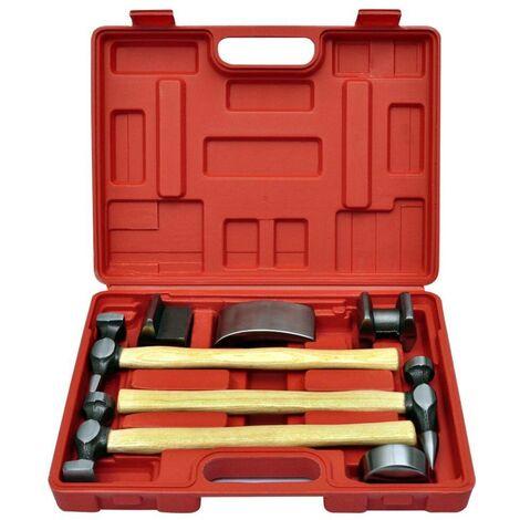 Hommoo Kit de marteaux de carrosserie de voiture et de bosses 7 pcs HDV03451