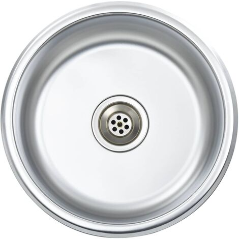 Hommoo Kitchen Sink with Strainer and Trap Stainless Steel QAH34961