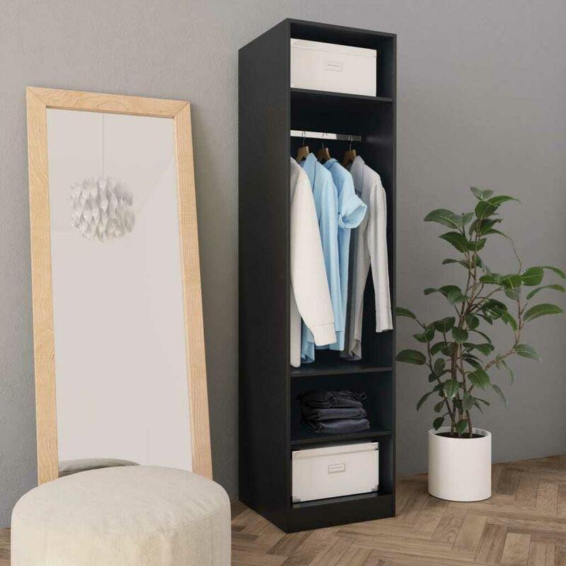 Kleiderschrank Schwarz 50x50x200 cm Spanplatte VD31264 - Hommoo