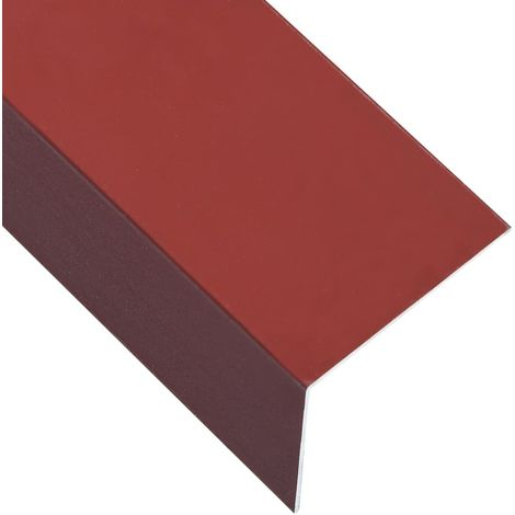Hommoo L-sHommoo 90° Angle Sheets 5 pcs Aluminium Red 170cm 100x50 mm