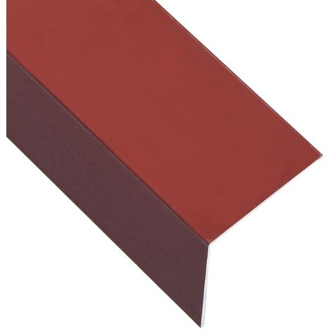 Hommoo L-sHommoo 90° Angle Sheets 5 pcs Aluminium Red 170cm 50x50 mm
