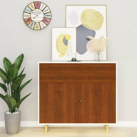 Hommoo Láminas autoadhesivas muebles 2 uds PVC roble claro 500x90 cm
