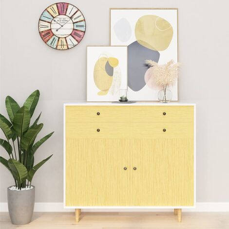 Hommoo Láminas autoadhesivas muebles 2 uds PVC roble japonés 500x90 cm HAXD35475