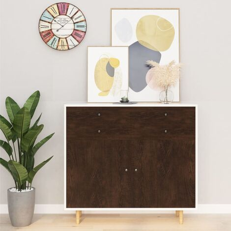 Hommoo Láminas autoadhesivas muebles 2 uds PVC roble oscuro 500x90 cm HAXD35474