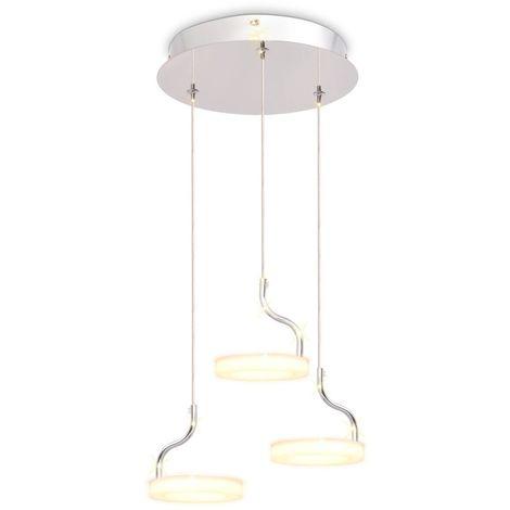 Hommoo Lámpara colgante LED con 3 luces blanco cálido