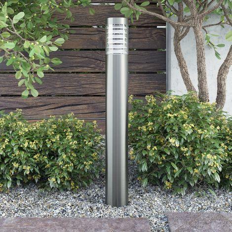 Hommoo Lámpara de poste de jardín acero inoxidable
