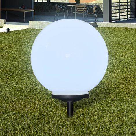 Hommoo Lámpara solar LED para el jardín 40 cm con pica de tierra