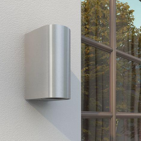 Hommoo Lámparas de pared de exterior luz superior e inferior 2 unidades