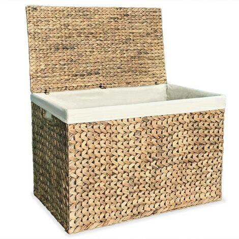 Hommoo Laundry Basket 82x42.5x52.5 cm Water Hyacinth