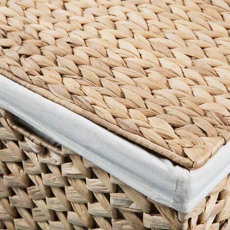 Hommoo Laundry Basket Set 2 Pieces Water Hyacinth QAH11473