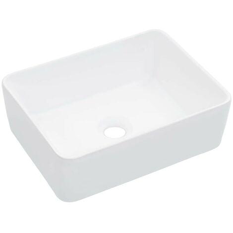 Hommoo Lavabo 40x30x13 cm cerámica blanco
