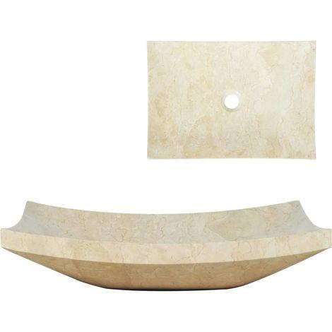 Hommoo Lavabo 50x35x12 cm mármol color crema
