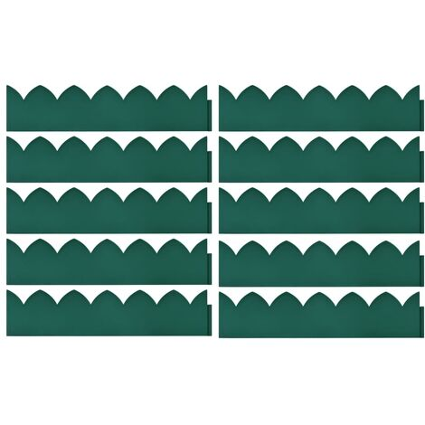 Hommoo Lawn Edgings 10 pcs Green 65x15 cm PP QAH46391