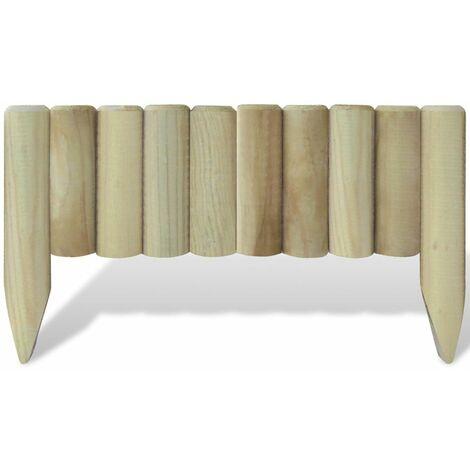 Hommoo Lawn Log Panels 10 pcs Wood 60 cm QAH26475