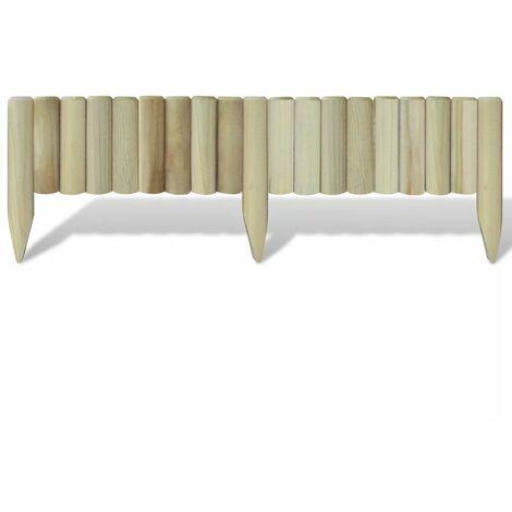 Hommoo Lawn Log Panels 5 pcs Wood 120 cm QAH26476