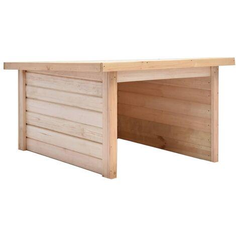 Hommoo Lawn Mower Garage 92x104x59.5 cm Solid Pine Wood 19 mm QAH29574