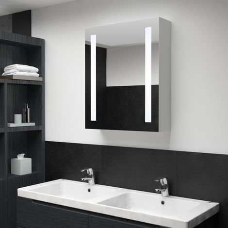 Hommoo LED Bathroom Mirror Cabinet 50x13x70 cm